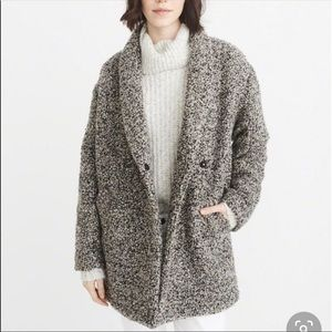 Abercrombie & Fitch Wool Blend Oversized Coat XS